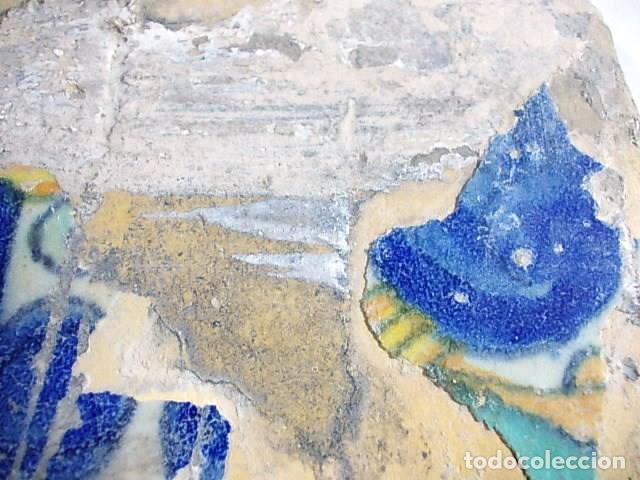 Antigüedades: ANTIGUO AZULEJO VALENCIANO XVI- XVII CON UNAS MEDIDAS DE 12 X 12 X 1,4 cm - Foto 2 - 85643808
