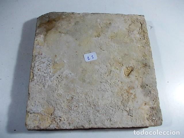 Antigüedades: ANTIGUO AZULEJO VALENCIANO XVI- XVII CON UNAS MEDIDAS DE 12 X 12 X 1,4 cm - Foto 3 - 85643808