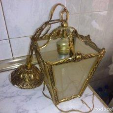 Antigüedades: FAROL DE BRONCE. Lote 85661300