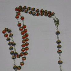 Antigüedades: ROSARIO VIRGEN DE LOURDES CRISTAL ARCOIRIS. Lote 85669764