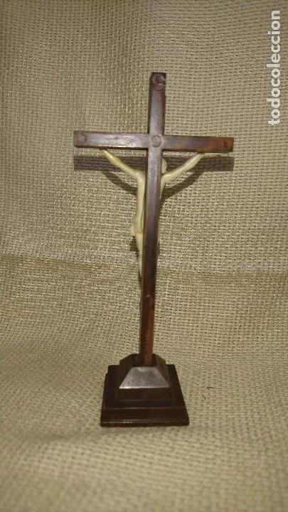 Antigüedades: CRUCIFIJO CRISTO EN LA CRUZ - Foto 4 - 85615252