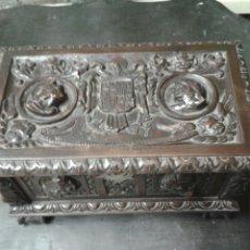 Antigüedades: CAJA MADERA TALLADA. Lote 85682459