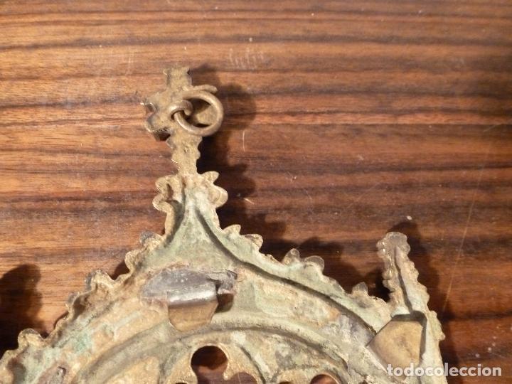Antigüedades: MARCO DE BRONCE PARA SACRAS NEOGOTICO - Foto 3 - 85727960