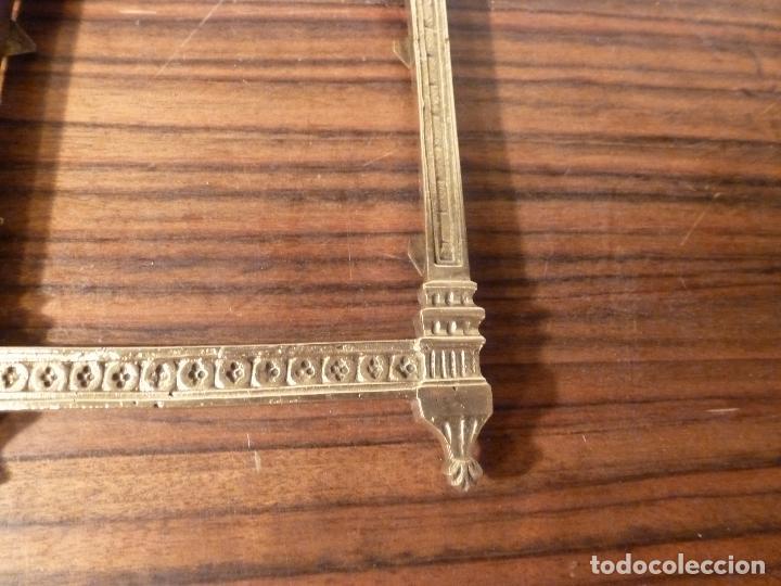 Antigüedades: MARCO DE BRONCE PARA SACRAS NEOGOTICO - Foto 7 - 85727960