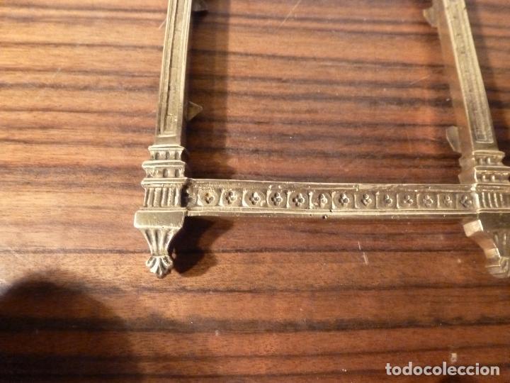 Antigüedades: MARCO DE BRONCE PARA SACRAS NEOGOTICO - Foto 8 - 85727960