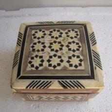 Antigüedades - Caja marquetería, taracea, hueso, nacar - 85739656