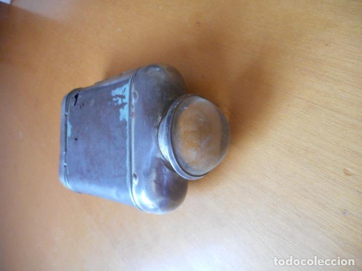 Antigüedades: Antigua linterna de petaca, tipo lupa. Sobre años 20-30 - Foto 4 - 85778536
