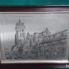 Antigüedades: CUADRO MONASTERIO DE LAS HUELGAS DE BURGOS REALIZADO EN RELIEVE SOBRE METAL - INDUPISA. Lote 85778684