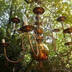 Antigüedades: LAMPARA HOLANDESA DE 12 BRAZOS. Lote 46172674