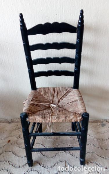 bonita silla antigua de madera y anea o enea,si - Comprar Sillas ...