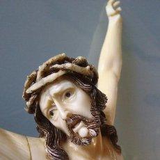 Antigüedades: CRISTO EN MARFIL 22 CM, SIGLO XVIII ?. Lote 85851492