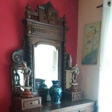 Antigüedades: PRECIOSO TOCADOR ALFONSINO DE NOGAL. Lote 85860446