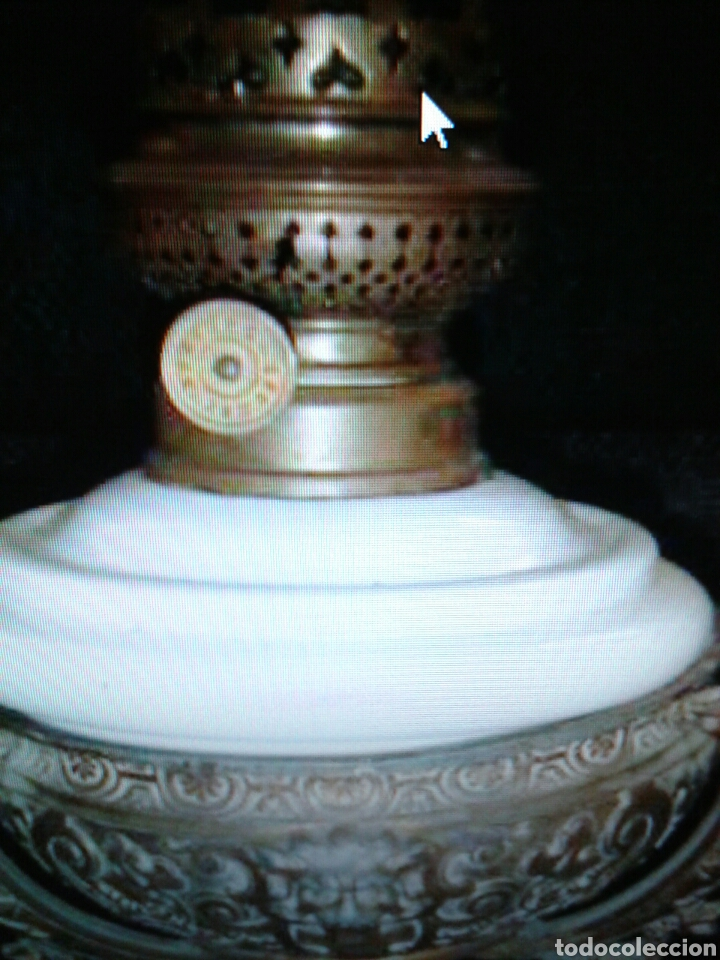 Antigüedades: QUINQUEL OPALINA - Foto 2 - 85870395