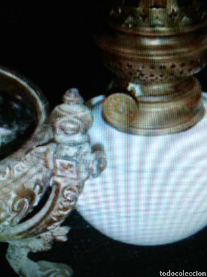 Antigüedades: QUINQUEL OPALINA - Foto 5 - 85870395