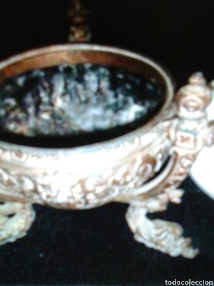 Antigüedades: QUINQUEL OPALINA - Foto 7 - 85870395
