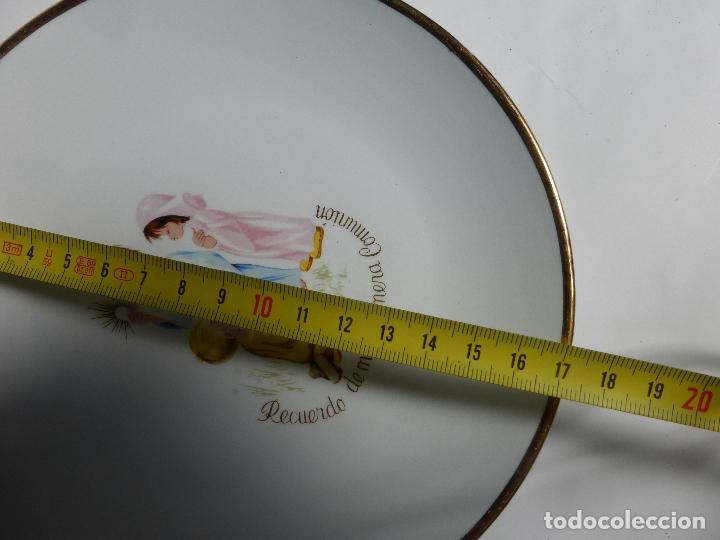 Antigüedades: ANTIGUO JUEGO VAJILLA INFANTIL DE 3 PLATOS PRIMERA COMUNIÓN MARCA SAN CLAUDIO AÑOS 50-60-BUEN ESTADO - Foto 2 - 85880676
