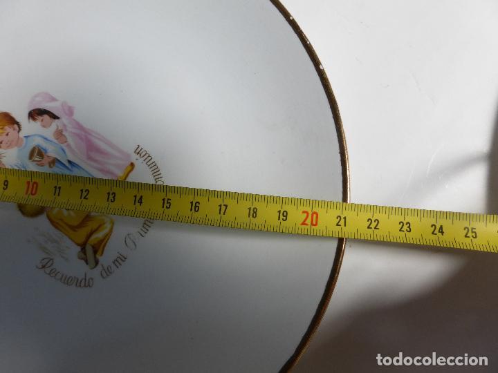 Antigüedades: ANTIGUO JUEGO VAJILLA INFANTIL DE 3 PLATOS PRIMERA COMUNIÓN MARCA SAN CLAUDIO AÑOS 50-60-BUEN ESTADO - Foto 3 - 85880676
