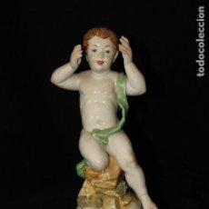 Antigüedades: AUTENTICA PORCELANA ALGORA DOCUMENTADA. FIGURA DE TAURO. POCO FRECUENTE EN PERFECTO ESTADO.. Lote 85886656