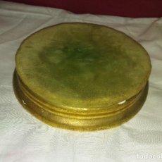 Antigüedades: BASE DE FANAL PEANA EN MADERA. Lote 85913340