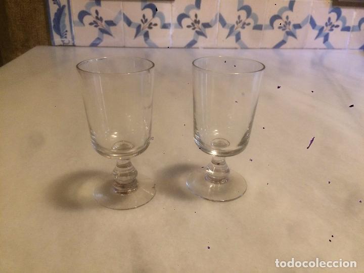 ANTIGUA PAREJA DE COPA / COPAS DE CRISTAL SOPLADO A MANO DE LOS AÑOS 20-30 (Antigüedades - Cristal y Vidrio - Catalán)