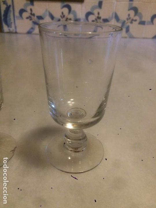 Antigüedades: Antigua pareja de copa / copas de cristal soplado a mano de los años 20-30 - Foto 2 - 85913996