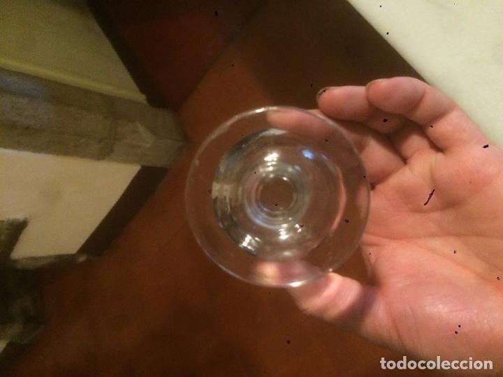 Antigüedades: Antigua pareja de copa / copas de cristal soplado a mano de los años 20-30 - Foto 9 - 85913996