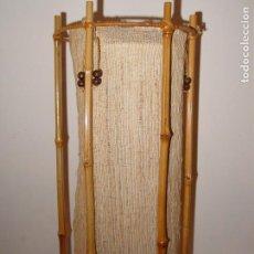 Antigüedades: BONITA LAMPARA EN BAMBU. Lote 85921124