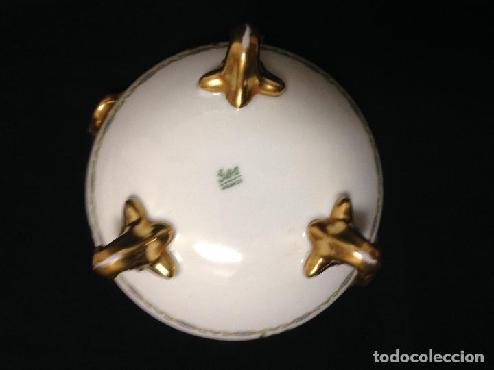 Antigüedades: ANTIGUA Y PRECIOSA BOMBONERA EN PORCELANA FRANCESA DE LIMOGES SELLADA EN SU BASE GDA FRANCE - Foto 7 - 85922316