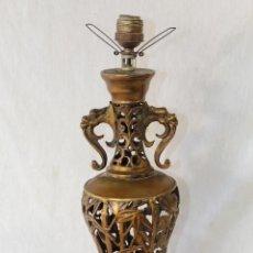Antigüedades: LAMPARA DE SOBREMESA EN BRONCE. Lote 85956364