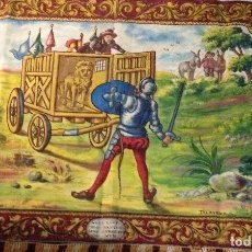 Antigüedades: REPOSTERO CON ESCENA DEL QUIJOTE, POR MARUJA FERNÁNDEZ. TALAVERA. Lote 85959488
