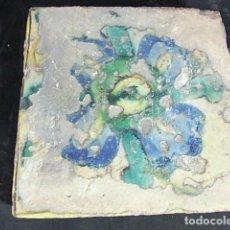 Antigüedades: ANTIGUO AZULEJO VALENCIANO DEL XVII-XVIII. Lote 85985740