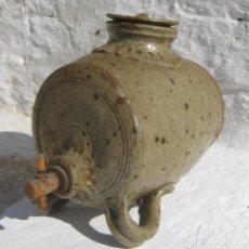 Antigüedades: ANTIGUA BOTELLA BARRIL O TONEL DE GRES - CERAMICA FIRMADA Y FECHADA. Lote 85986240