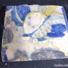 Antigüedades: ANTIGUO AZULEJO VALENCIANO DEL XVII-XVIII. Lote 85986952