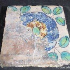 Antigüedades: ANTIGUO AZULEJO VALENCIANO DEL XVII-XVIII. Lote 85987524
