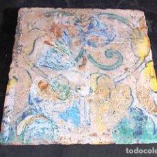 Antigüedades: ANTIGUO AZULEJO VALENCIANO DEL XVII-XVIII . Lote 85988364