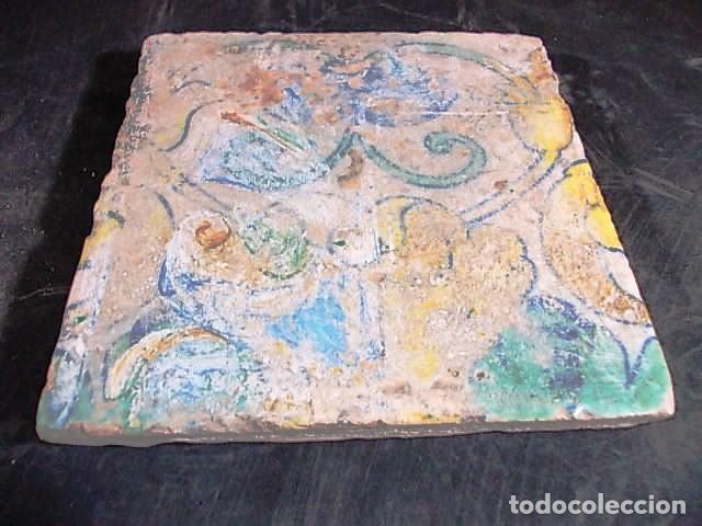 Antigüedades: ANTIGUO AZULEJO VALENCIANO DEL XVII-XVIII - Foto 2 - 85988364