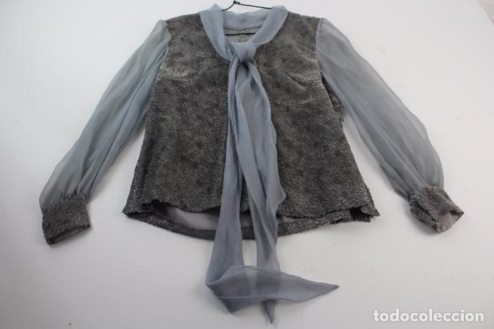 BLUSA DE SEDA Y ALGODON . S.XX. (Antigüedades - Moda y Complementos - Mujer)