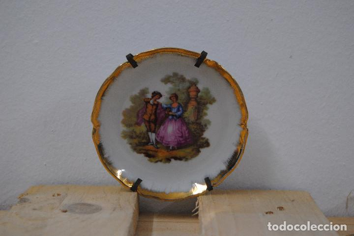 Antigüedades: PLATILLO DECORACION FRAGONARD PORCELANA LIMOGES - Foto 4 - 86045288