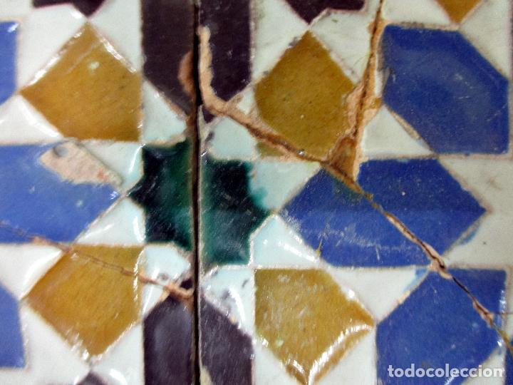 Antigüedades: AZULEJO DE ARISTA. RAMOS REJANO. 2 PIEZAS. TRIANA, SEVILLA. - Foto 5 - 31384266