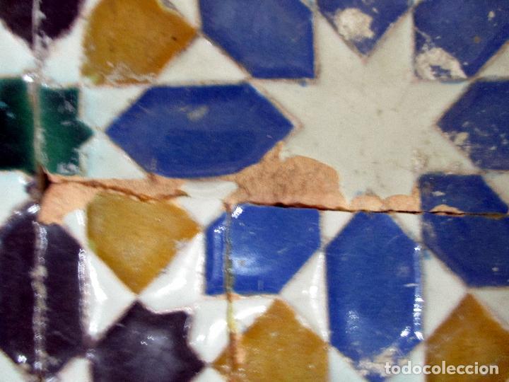 Antigüedades: AZULEJO DE ARISTA. RAMOS REJANO. 2 PIEZAS. TRIANA, SEVILLA. - Foto 6 - 31384266