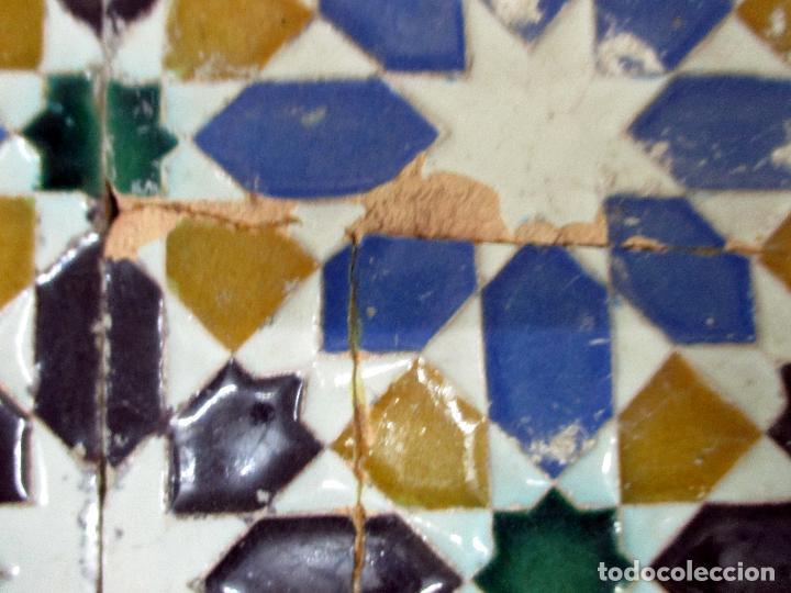 Antigüedades: AZULEJO DE ARISTA. RAMOS REJANO. 2 PIEZAS. TRIANA, SEVILLA. - Foto 7 - 31384266