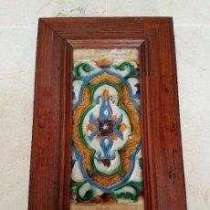 Antigüedades: EXCEPCIONAL AZULEJO DE CUENCA O ARISTA EN CERAMICA DE TRIANA,(SEVILLA),S. XVI. Lote 86068332