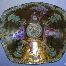 Antigüedades: PRECIOSO PLATO PINTADO A MANO .. Lote 86069516