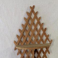 Antigüedades: MENSULA - REPISA EN MADERA. Lote 86080444