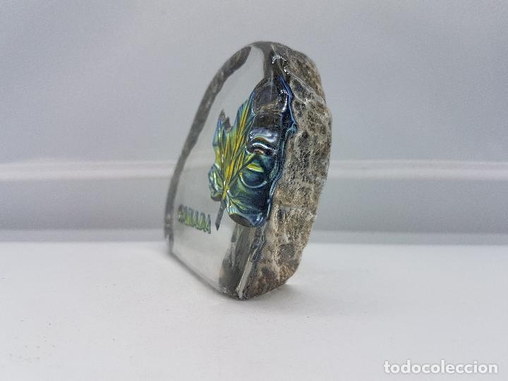 Antigüedades: Pisapapeles antiguo de cristal de bohemia y plata de ley hecho en Canadá por Tilley. - Foto 2 - 86084648