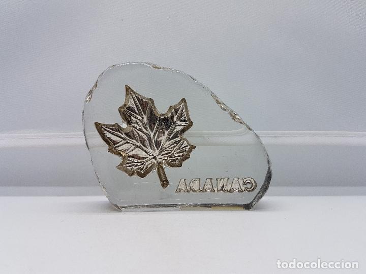 Antigüedades: Pisapapeles antiguo de cristal de bohemia y plata de ley hecho en Canadá por Tilley. - Foto 4 - 86084648