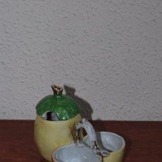 Antigüedades: CONJUNTO DE PORCELANA PARA EL SERVICIO DE POSTRES - CONVOY BISCUIT - AZUCAR Y MERMELADAS - PP. S. XX. Lote 86089624