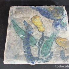 Antigüedades: 16-ANTIGUO AZULEJO VALENCIANO DEL XVII-XVIII CON UNAS MEDIDAS DE 14 X 13,75 X 2,2 CM D-108 40€. Lote 86090320