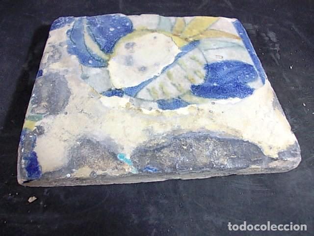 Antigüedades: ANTIGUO AZULEJO VALENCIANO DEL XVII-XVIII - Foto 2 - 86090740