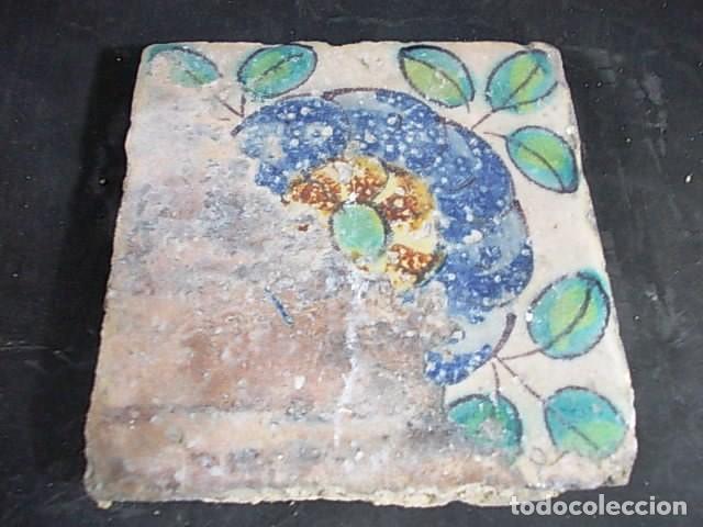 ANTIGUO AZULEJO VALENCIANO DEL XVII (Antigüedades - Porcelanas y Cerámicas - Azulejos)